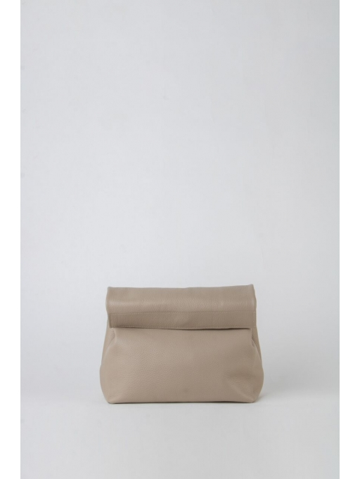 Taupe leather lunch bag