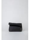 Black folded pounch bag