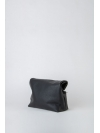 Black and white paneled folded pounch bag