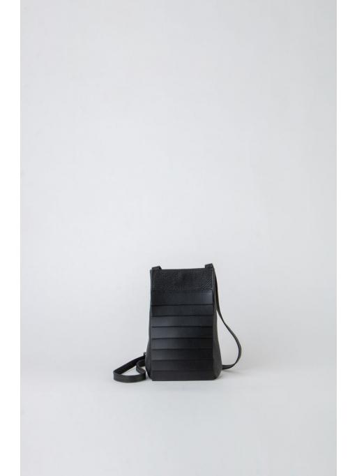 Black paneled shoulder bag
