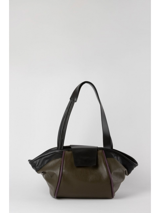 Colorblock structured tote bag