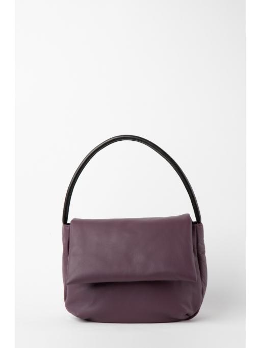 Purple and black foldover bag