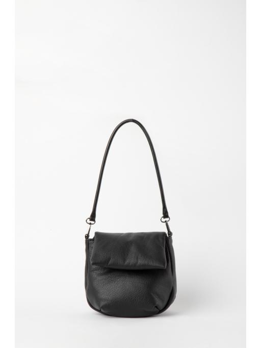 Black foldover shoulder bag