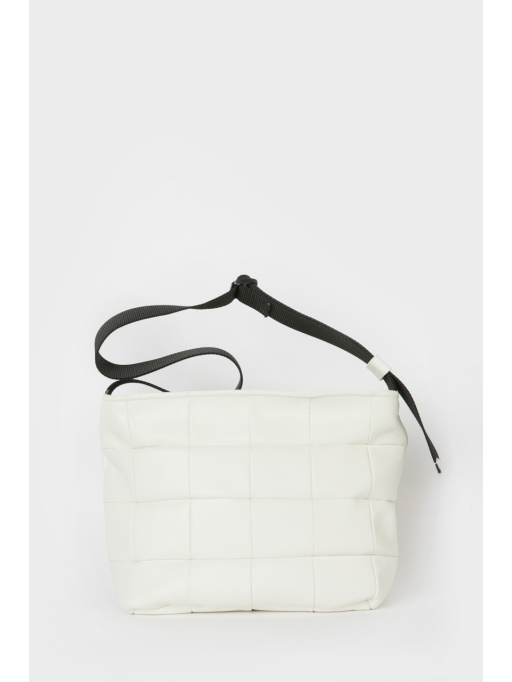 White quilted tote bag