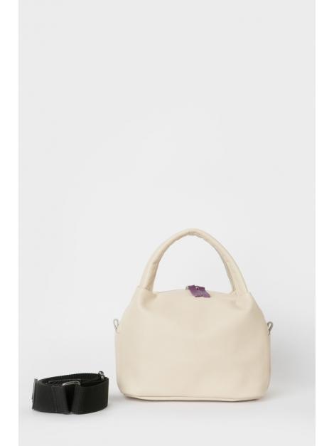 Cafe latte curved top handle bag