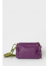 Mauve and green ruche shoulder bag