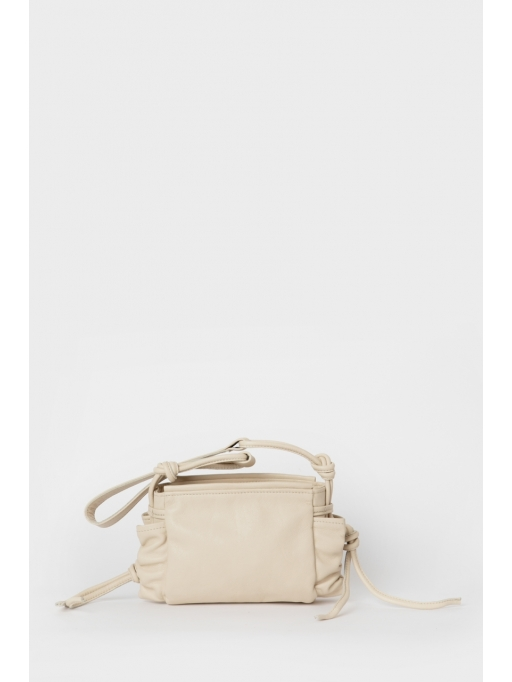 Latte ruche shoulder bag
