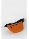 Orange leather belt bag