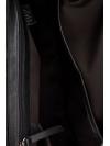 Orange and black flapover leather shoulder bag