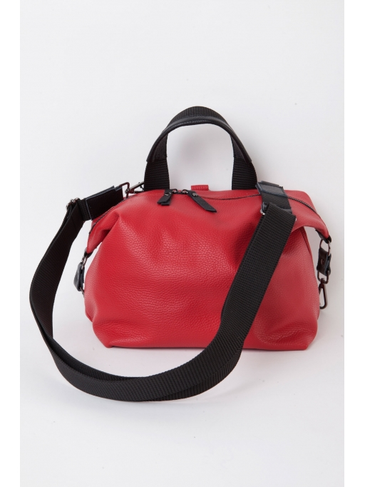 Red leather convertible bag