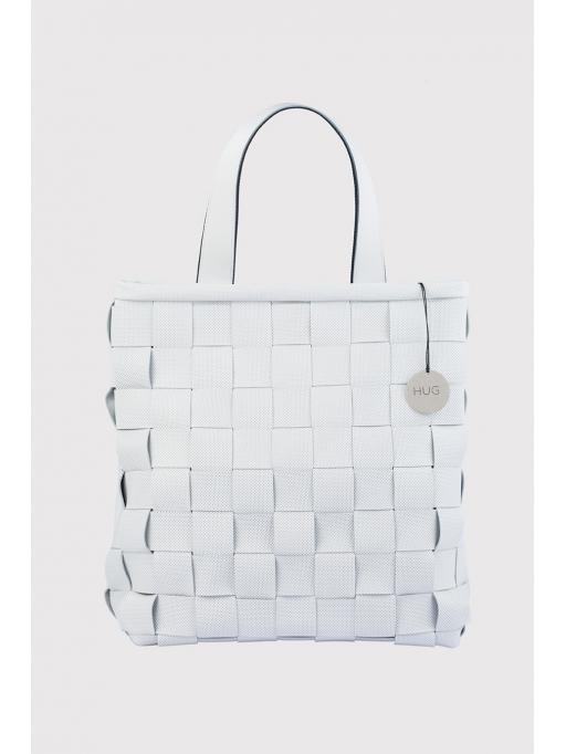 White woven bag