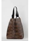 Snakeprint stripped shopper bag